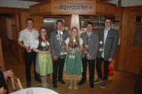 Die Preisträger des Teiler der Saison: (von links) Ludwig Sommerstorfer, Carmen Palme, 2. Schützenmeister Johannes Biedersberger, Christina Windmeier, Georg Ländler und Benedict Wick.